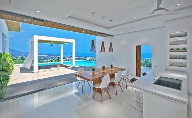 Panoramic Sea View Luxury Pool Villas in Chaweng Noi