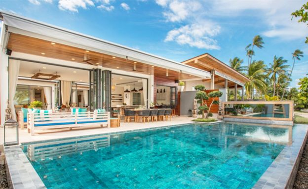 Ultra Luxury 6 Bedroom Beachfront Villa in Laem Sor