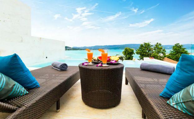 Luxury 4 Bedroom Sunset Sea View Villa in Plai Laem