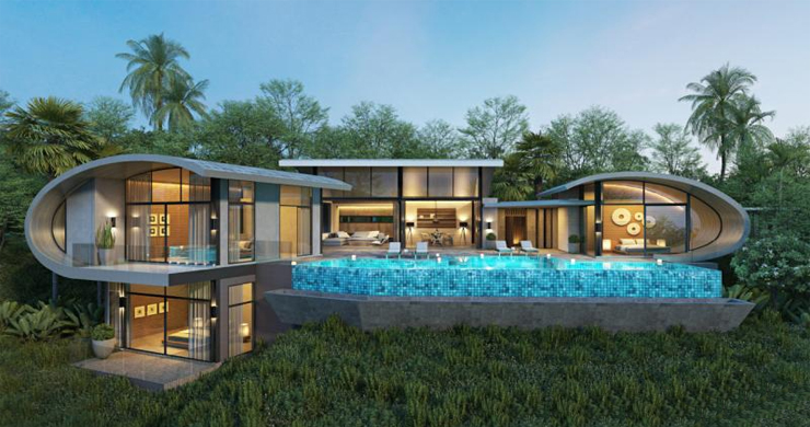 Unique Modern 2-3 Bed Sea View Villas in Chaweng Noi  -1