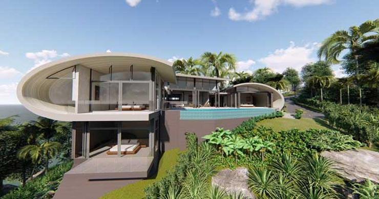 Unique Modern 2-3 Bed Sea View Villas in Chaweng Noi  -11