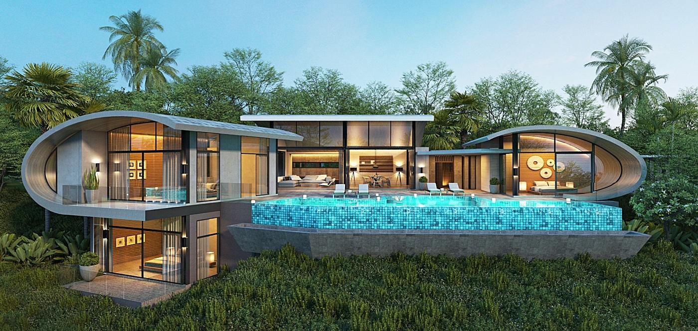 Unique Modern 2-3 Bed Sea View Villas in Chaweng Noi-25