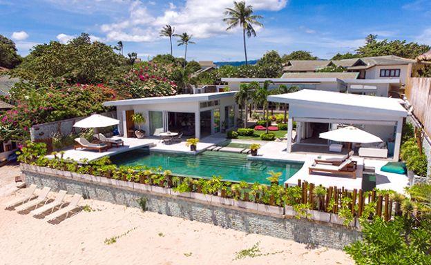 5 Bedroom Luxury Beachront Villa for Sale in Plai Laem