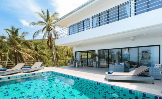 Modern 3 Bedroom Sea View Villa in Chaweng Noi