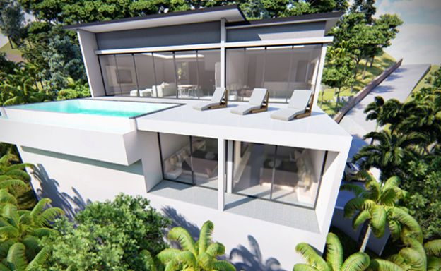Modern 5 Bedroom Sea View Pool Villa in Plai Laem