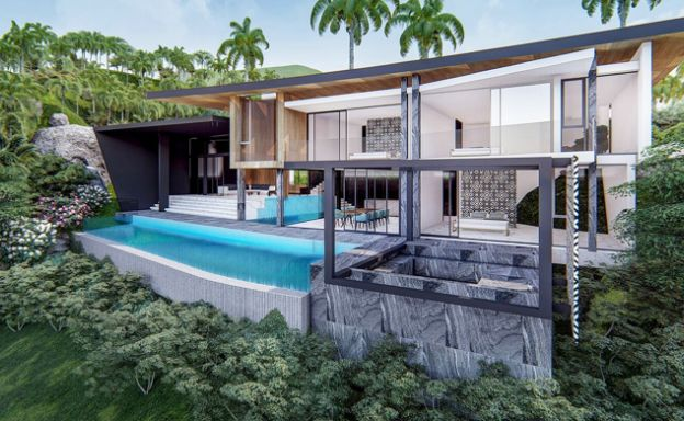 Stylish 3 Bedroom Sea View Villas in Ban Makham