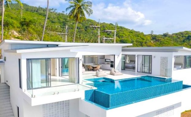 Contemporary 3 Bed Sea View Villas in Chaweng Noi