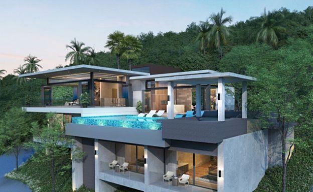 Beautiful 4 Bedroom Sea View Villas in Chaweng Noi