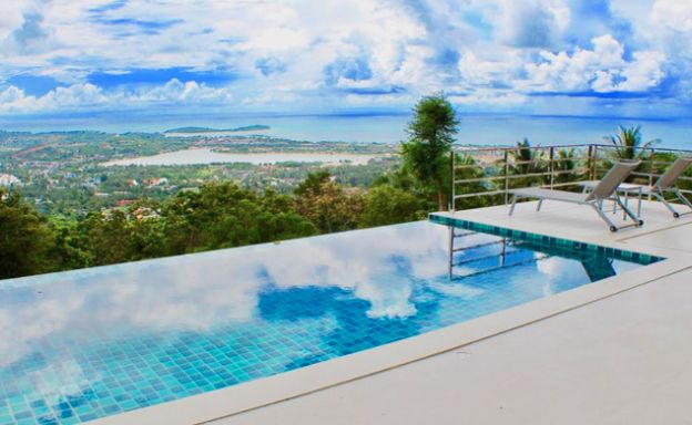 New 3 Bedroom Modern Sea View Villa in Chaweng Hills