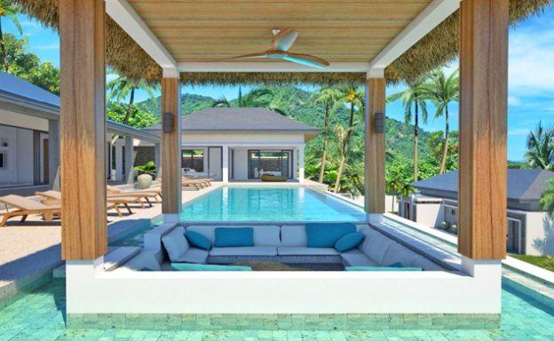 Beautiful Bali Luxury Pool Villas in Bophut with Seaview