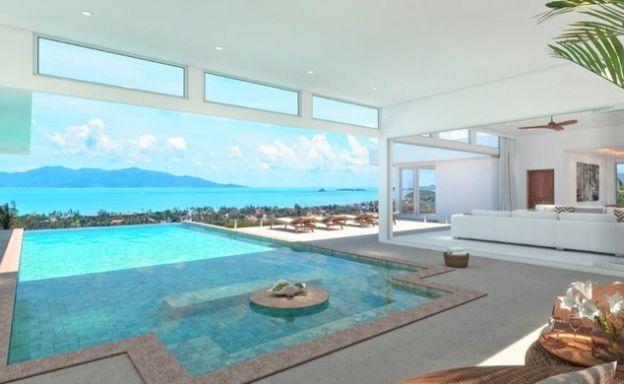 New Luxury 4 Bedroom Sea View Pool Villa in Bophut