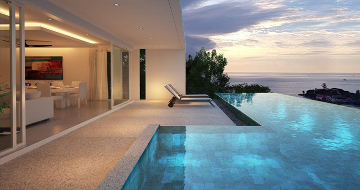 Unique New 4 Bed Sunset Sea view Villas in Big Buddha-4