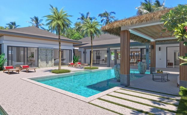 Beautiful 3-4 Bed Luxury Bali Pool Villas in Maenam