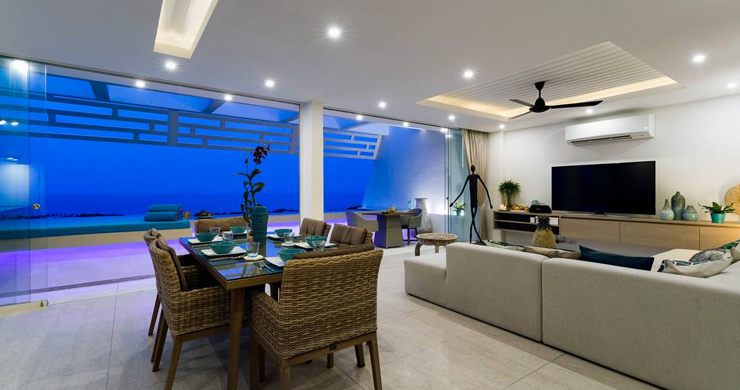 Luxury Sea view 3 Bed Modern Pool Villa on Chaweng-12