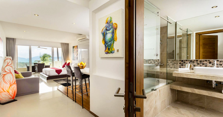 Freehold Luxury Sea view Studio Apartment in Maenam-6