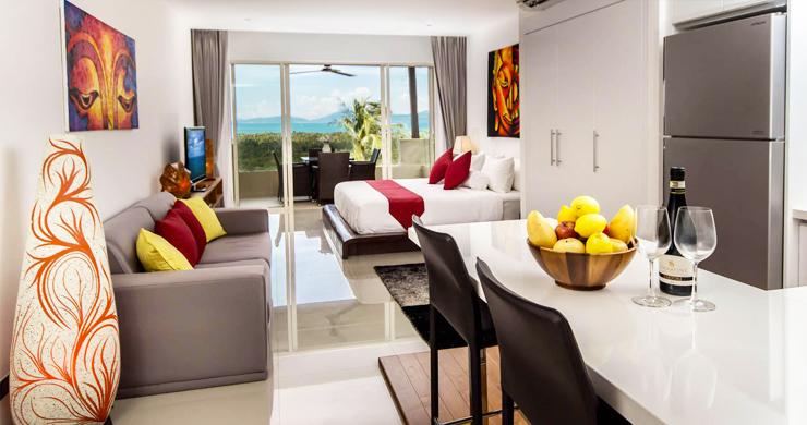 Freehold Luxury Sea view Studio Apartment in Maenam-3