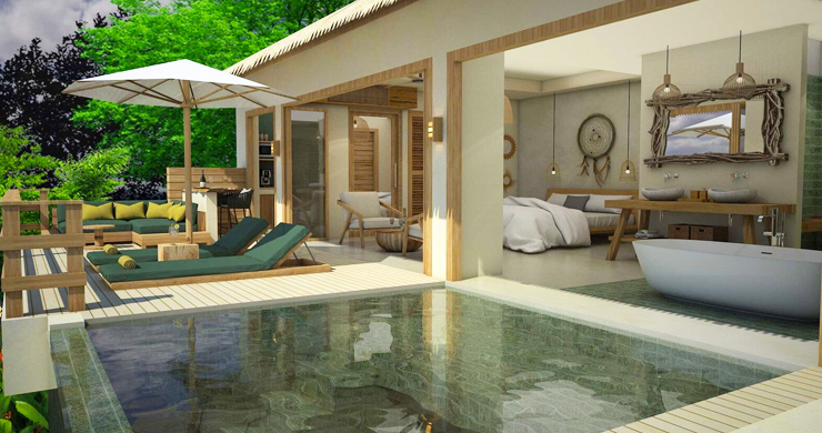 Charming New Seaview Pool Cottages in Lamai-9