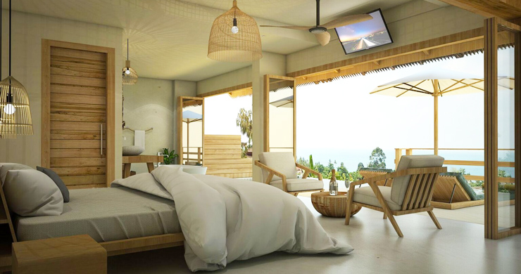 Charming New Seaview Pool Cottages in Lamai-6