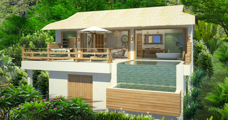Charming New Seaview Pool Cottages in Lamai-1
