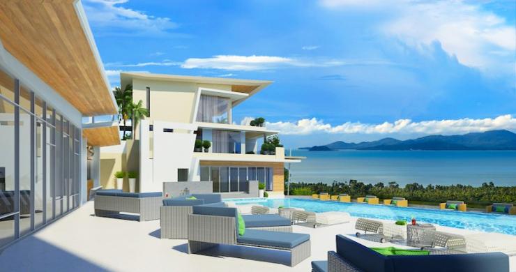 Unique Samui Sea view Luxury Penthouse in Maenam-14