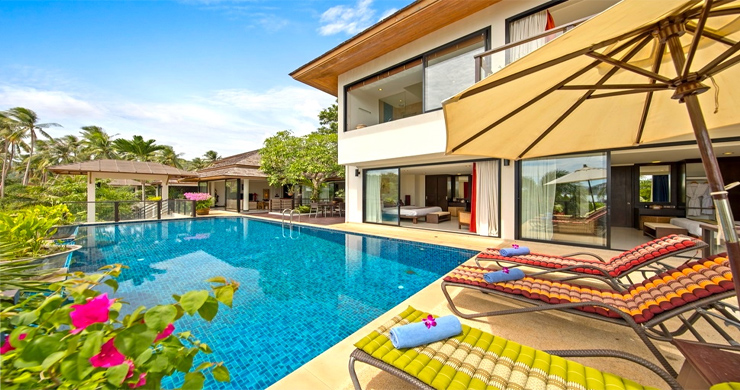 Beautiful 4 Bedroom Luxury Pool Villa on Bophut Beach-2