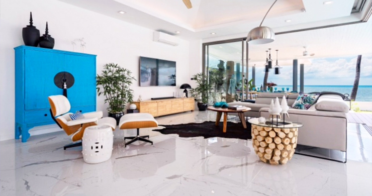 Beautiful 3 Bed Beachfront Villa For Sale on Laem Set-4