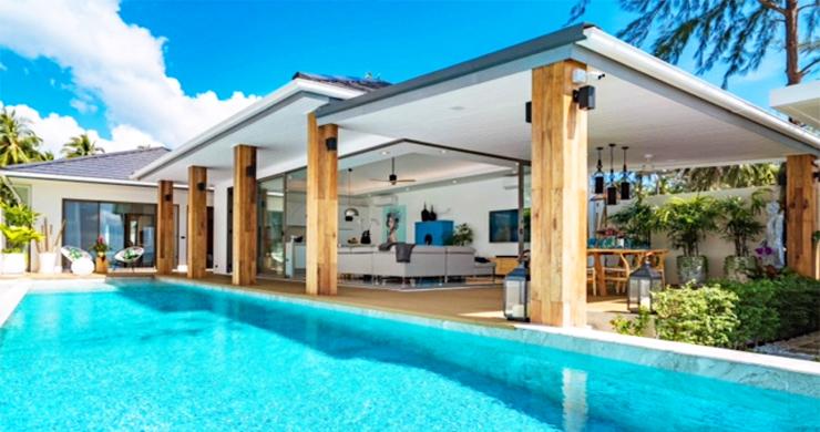 Beautiful 3 Bed Beachfront Villa For Sale on Laem Set-13