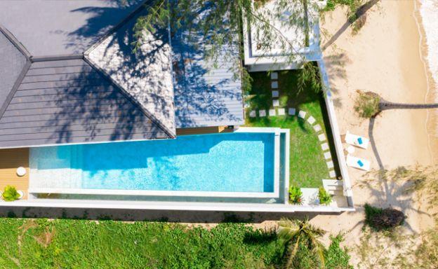 Beautiful 3 Bed Beachfront Villa For Sale on Laem Set
