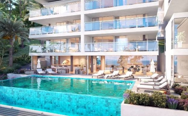 New Modern 2 Bed Seaview Apartment in Bang Por