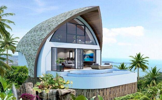 Spectacular Modern Design 1-2 Bedroom Sea view Villas