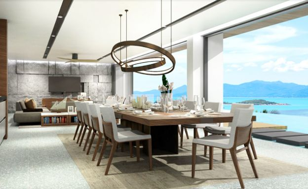 Sleek New 3-4 Bedroom Sea View Villas in Plai Laem