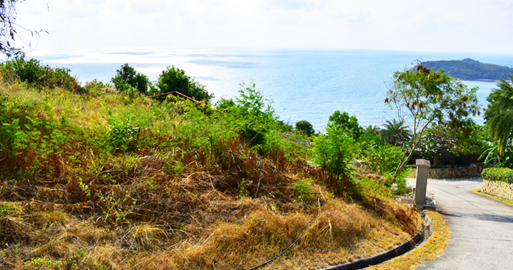Serene Samui Sea view Land on Choeng Mon Hills-10