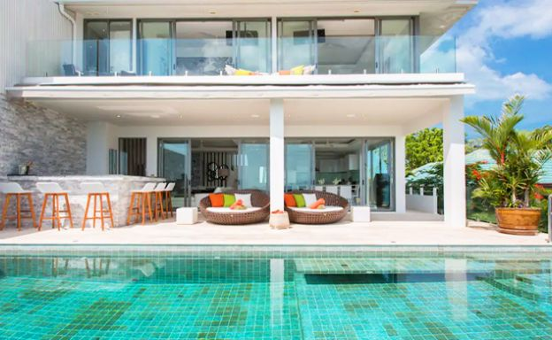 Sunset Sea view 4 Bed Luxury Villa on Samrong Bay