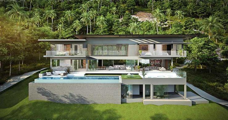 Ultra-Luxury 5 Bedroom Sea view Villa in Chaweng Noi-3