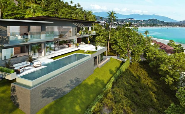 Ultra-Luxury 5 Bedroom Sea view Villa in Chaweng Noi
