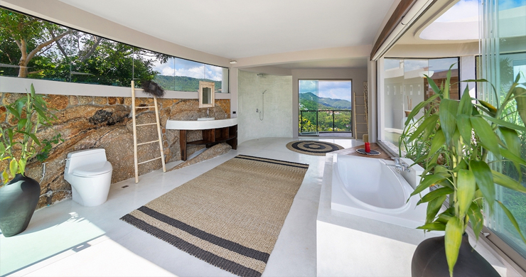 Palatial 5 Bedroom Sea view Villa on Chaweng Noi Peak-10