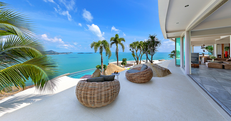 Palatial 5 Bedroom Sea view Villa on Chaweng Noi Peak-12