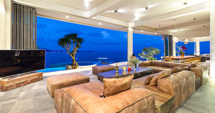 Palatial 5 Bedroom Sea view Villa on Chaweng Noi Peak-23