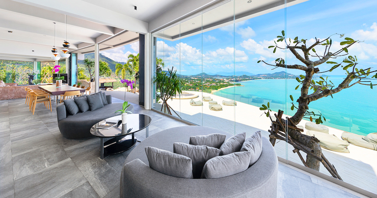 Palatial 5 Bedroom Sea view Villa on Chaweng Noi Peak-3