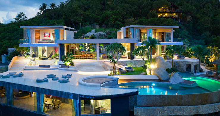 Palatial 5 Bedroom Sea view Villa on Chaweng Noi Peak-21