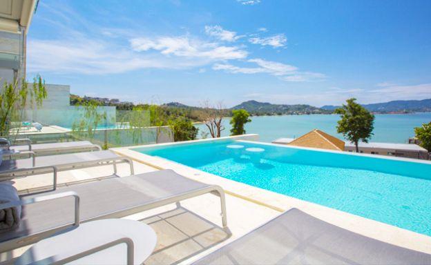 Sunset Sea view 4-Bed Luxury Villa by Plai Laem Beach