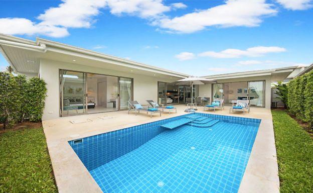 Chic Modern 2 Bedroom Pool Villa in Peaceful Plai Laem