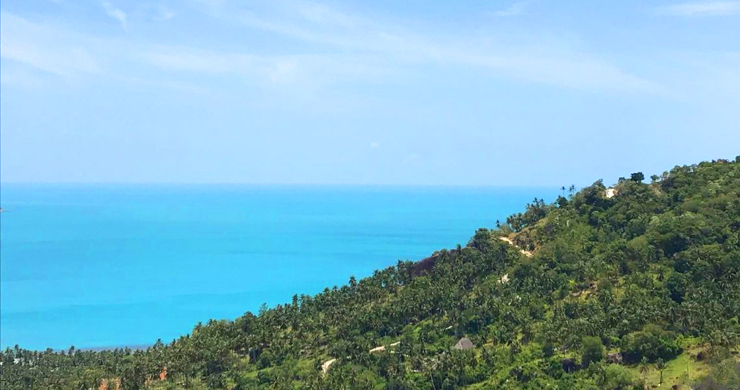 Prime Sea View Land for Sale on Chaweng Noi Hills-2