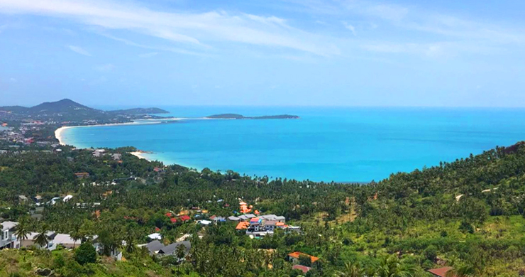 Prime Sea View Land for Sale on Chaweng Noi Hills-4