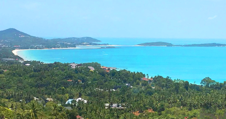 Prime Sea View Land for Sale on Chaweng Noi Hills-1