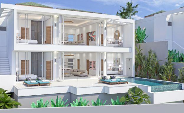 6 Bed Modern Sea view Villa on Beautiful Bophut Hills