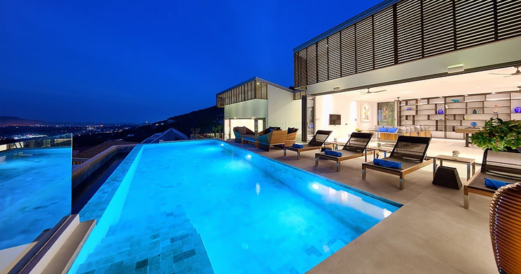 Iconic 6 Bed Luxury Sea view Villa Resort in Bophut-23