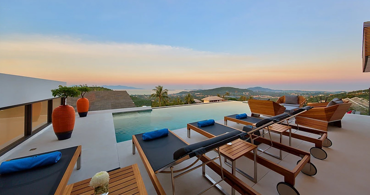Iconic 6 Bed Luxury Sea view Villa Resort in Bophut-22