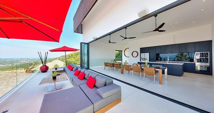 Iconic 6 Bed Luxury Sea view Villa Resort in Bophut-4