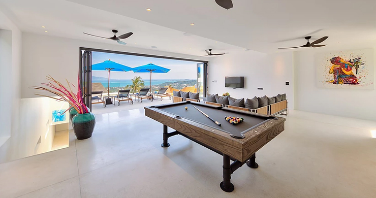 Iconic 6 Bed Luxury Sea view Villa Resort in Bophut-11